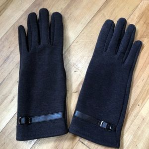 Brown Cozy Fabric Gloves Small
